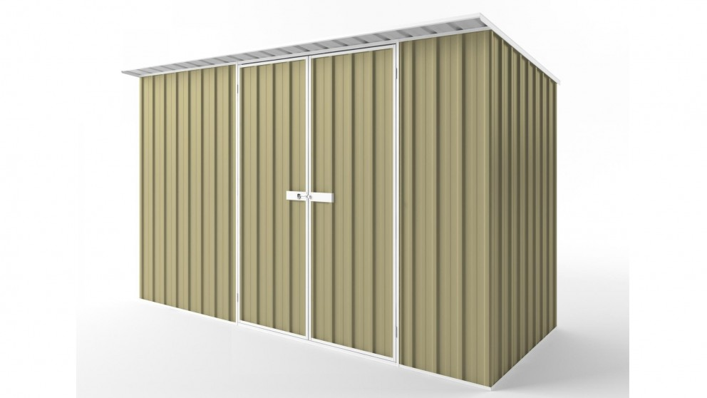 EasyShed D3815 Skillion Roof Garden Shed - Sandalwood