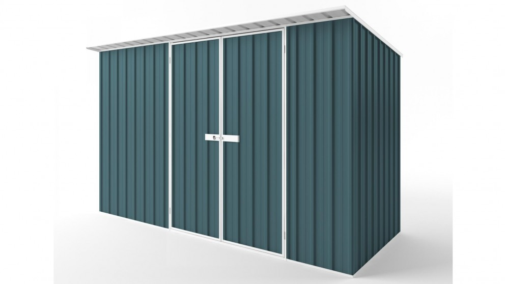 EasyShed D3815 Skillion Roof Garden Shed - Torres Blue