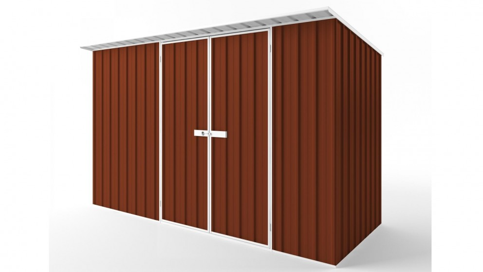 EasyShed D3815 Skillion Roof Garden Shed - Tuscan Red