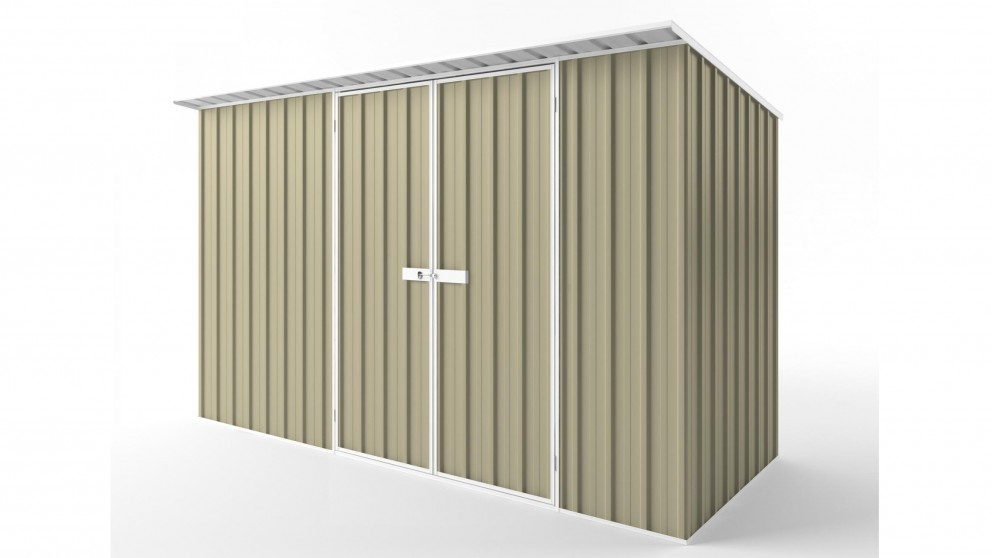 EasyShed D3815 Skillion Roof Garden Shed - Wheat