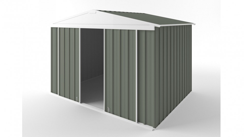 EasyShed D3023 Gable Slider Roof Garden Shed - Mist Green