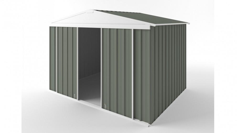 EasyShed D3023 Gable Slider Roof Garden Shed - Mist Green