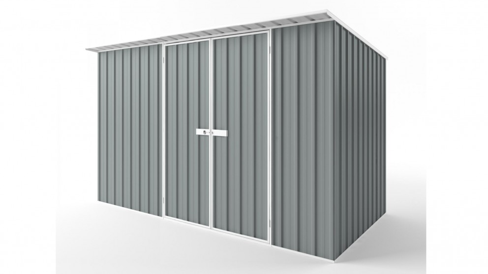 EasyShed D3819 Skillion Roof Garden Shed - Armour Grey