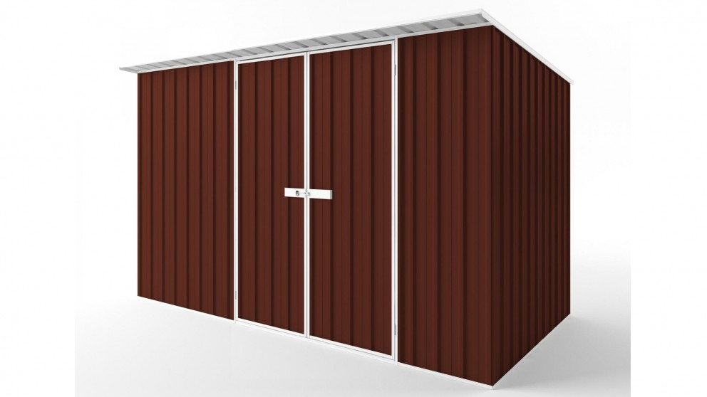 EasyShed D3819 Skillion Roof Garden Shed - Heritage Red