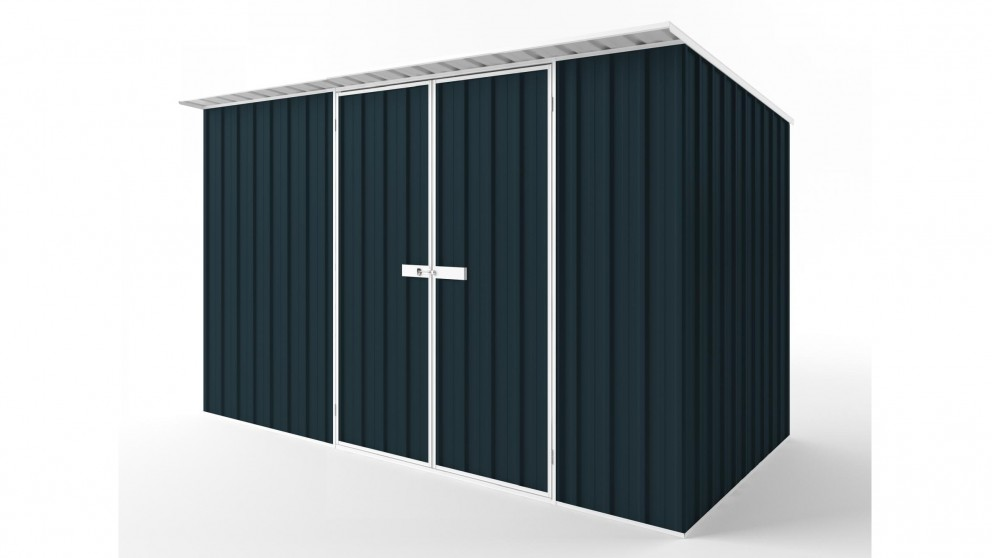 EasyShed D3819 Skillion Roof Garden Shed - Mountain Blue