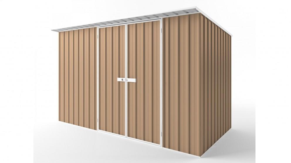 EasyShed D3819 Skillion Roof Garden Shed - Pale Terracotta