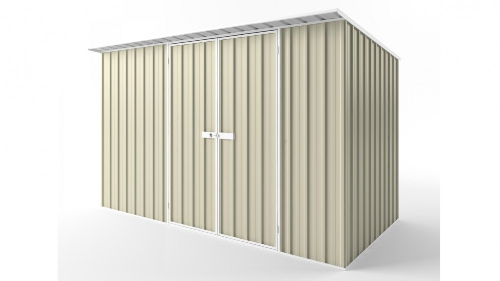 EasyShed D3819 Skillion Roof Garden Shed - Smooth Cream