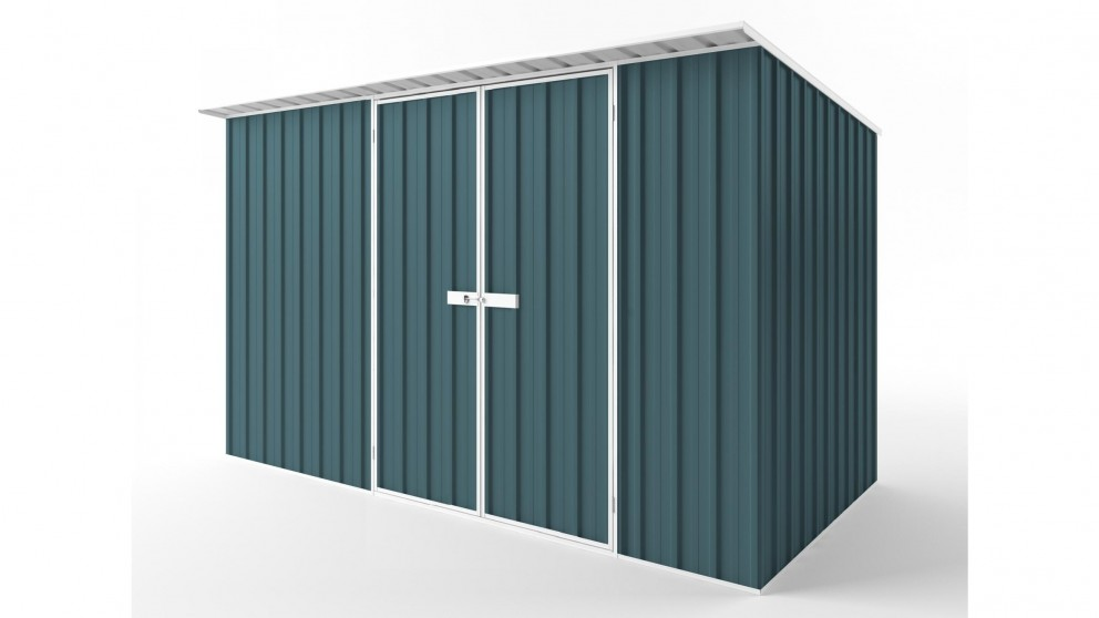 EasyShed D3819 Skillion Roof Garden Shed - Torres Blue
