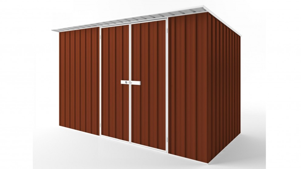 EasyShed D3819 Skillion Roof Garden Shed - Tuscan Red