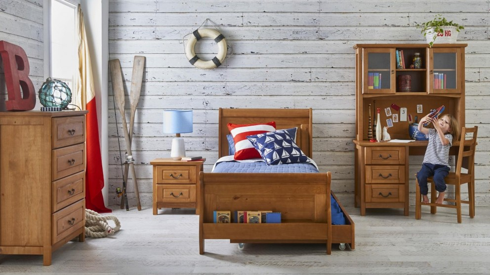 Oxford Single Bed - Natural