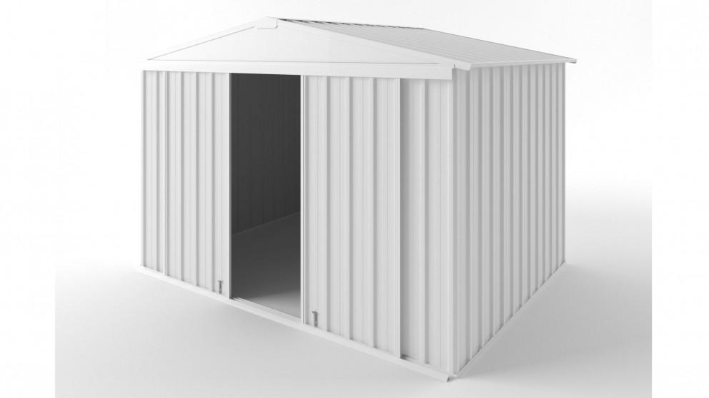 EasyShed D3023 Gable Slider Roof Garden Shed - Off White