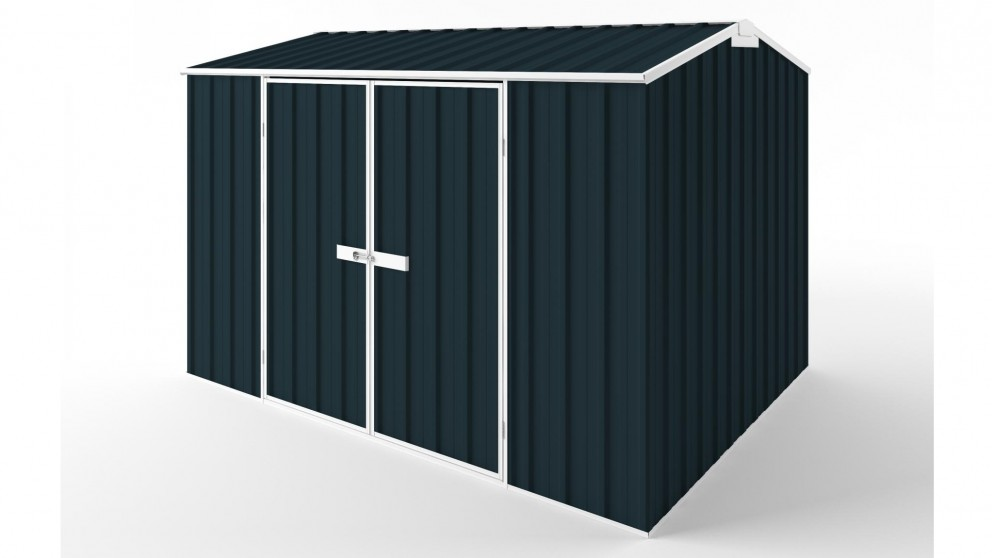 EasyShed D3023 Gable Roof Garden Shed - Mountain Blue