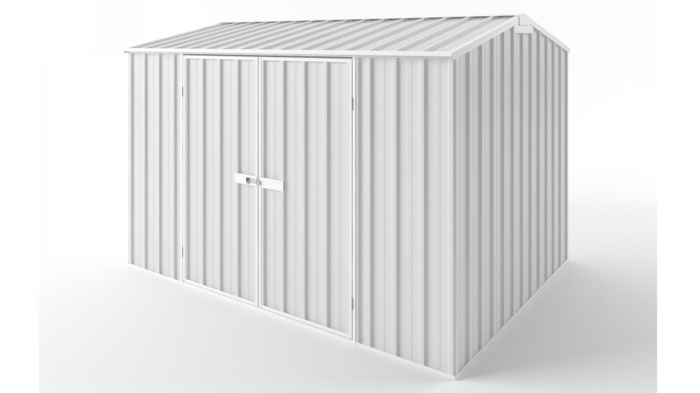EasyShed D3023 Gable Roof Garden Shed - Off White