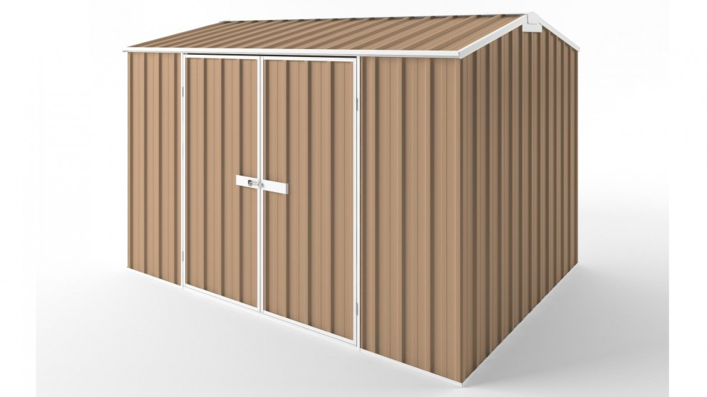 EasyShed D3023 Gable Roof Garden Shed - Pale Terracotta