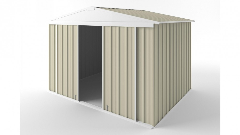 EasyShed D3023 Gable Slider Roof Garden Shed - Smooth Cream