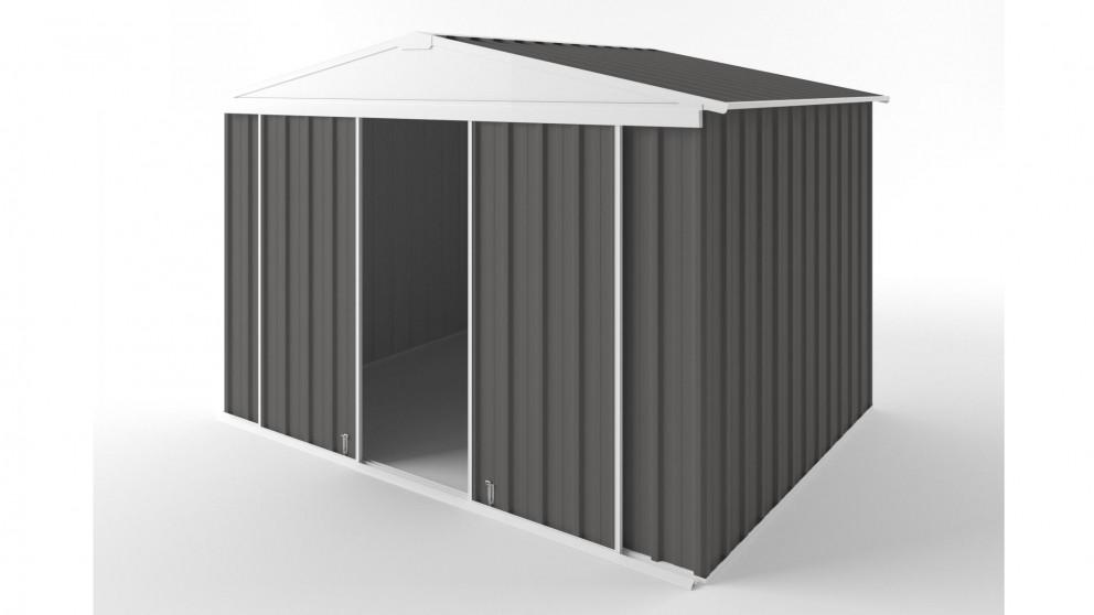 EasyShed D3023 Gable Slider Roof Garden Shed - Slate Grey