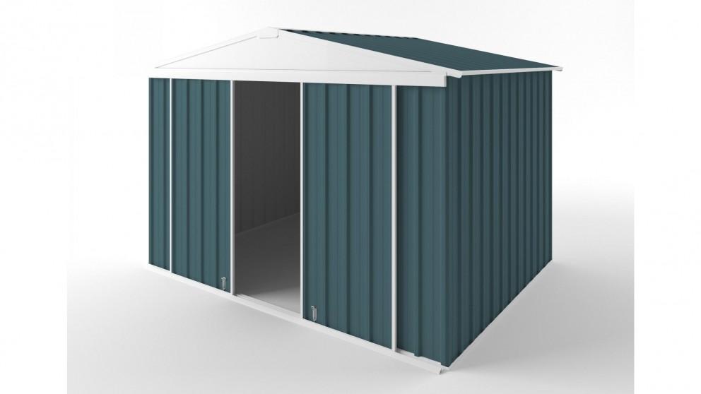 EasyShed D3023 Gable Slider Roof Garden Shed - Torres Blue