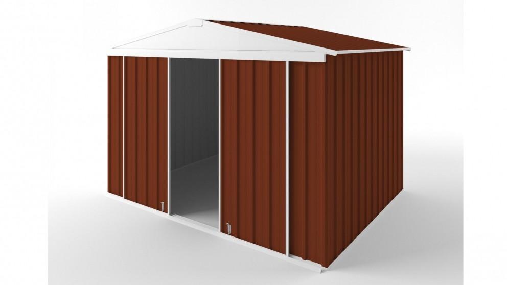 EasyShed D3023 Gable Slider Roof Garden Shed - Tuscan Red