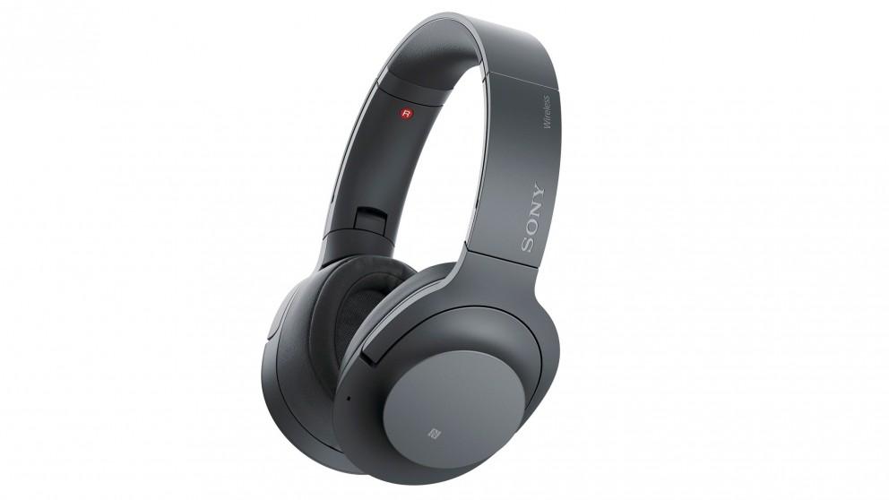 harvey norman sony whh900nb over ear bluetooth wireless headphones black compare club. Black Bedroom Furniture Sets. Home Design Ideas