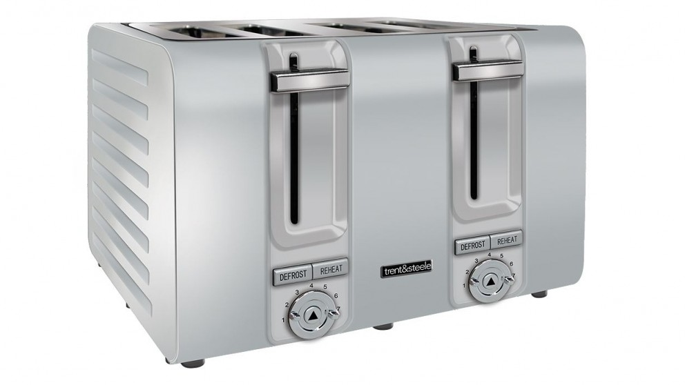 Trent and Steel TS4379 4 Slice Toaster - Stainless Steel