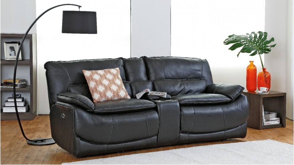 Tex Powered Italian Leather Recliner Sofa