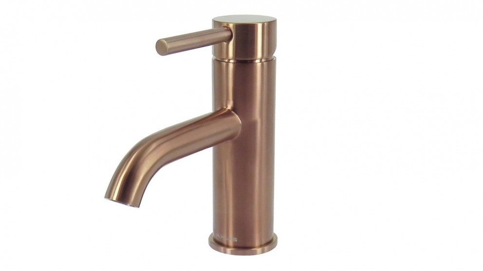 Arcisan Axus Pin Lever Basin Mixer - Brushed Rose Gold PVD
