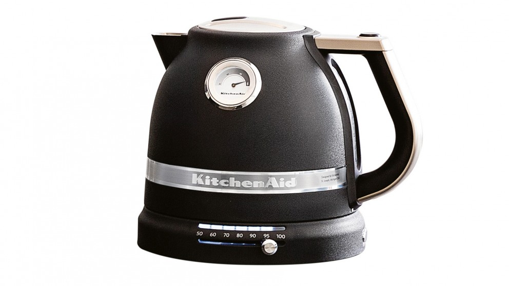 With the KitchenAid qt. Electric Kettle on your countertop, a hot cup of tea or a quickly boiled pot of pasta is just moments away. Crafted with a stainless steel body - choose from the available color options - this easy electric kettle holds up to liters of water for .