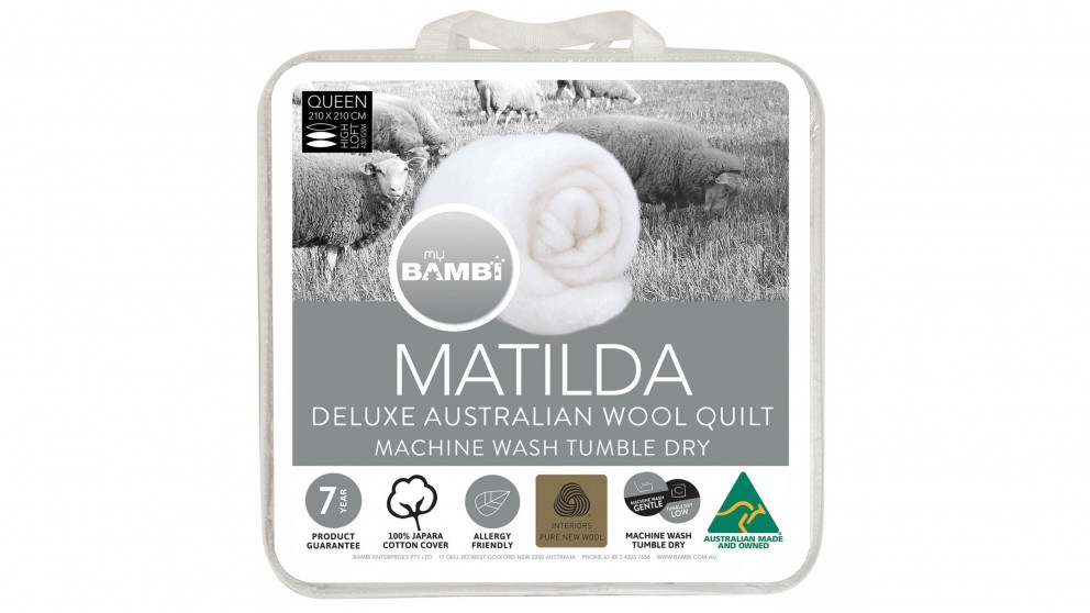Matilda Woolmark Gold Label Lightloft Double Quilt