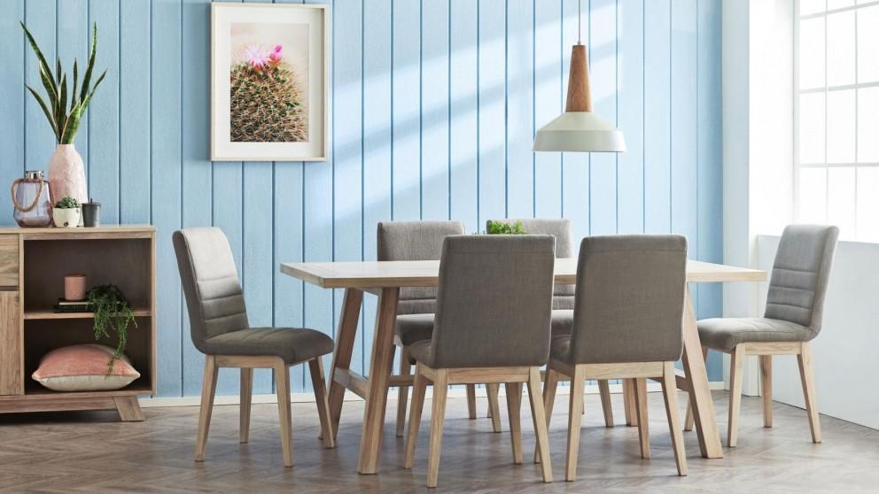 Tahiti 7-Piece Rectangular Dining Suite