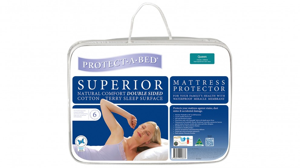 Protect A Bed Superior White Single Mattress Protector