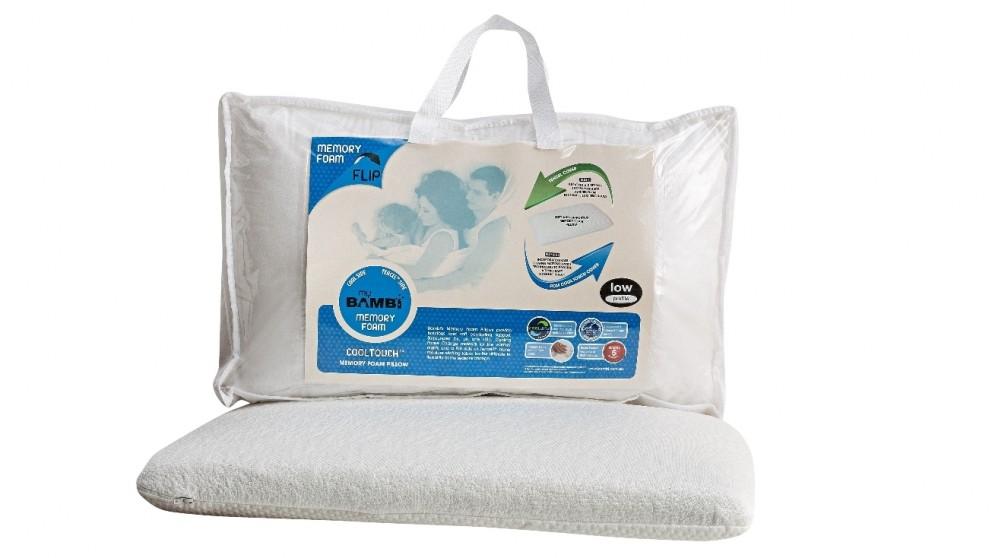 Bambi Cool Touch Flip Memory Foam Pillow - Low Profile