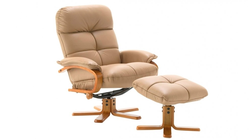 Atlantis Leather Recliner and Footstool