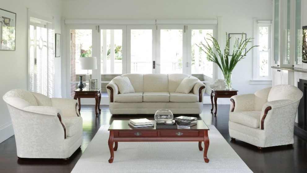 Buy Seashell Fabric Lounge Suite Harvey Norman Au