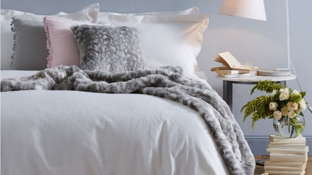 Liberty White Double Quilt Cover Set