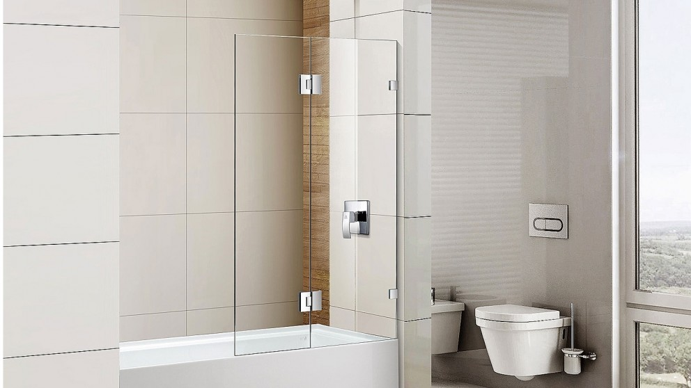 Cartia Jazz 900mm Fix and Swing with Nano Protection Glass Shower Screen