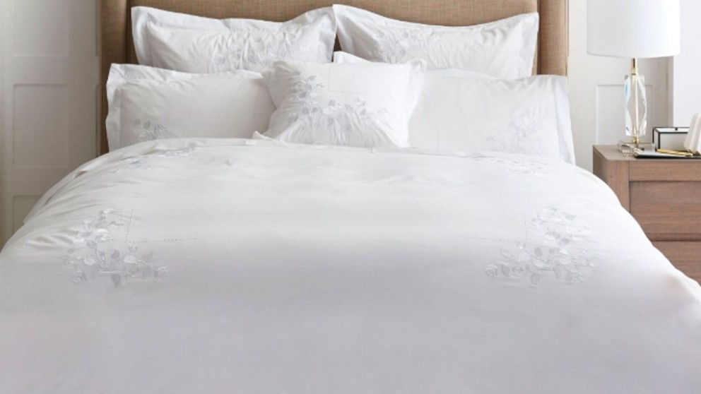 May White Super King Quilt Cover Set