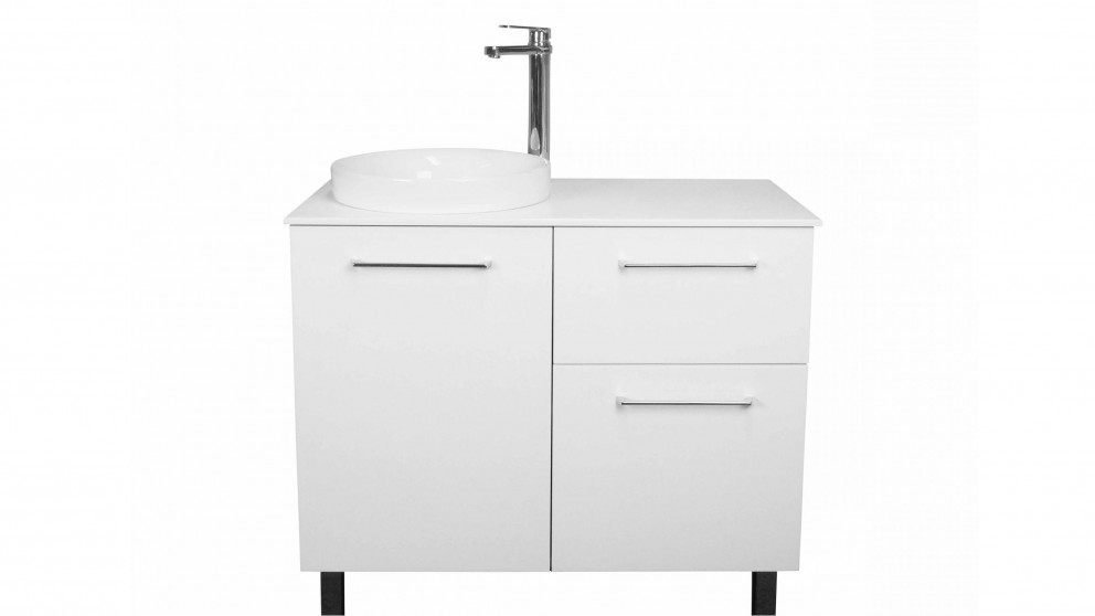Vanity Bathroom Harvey Norman ledin zanetti 900mm vanity with solid surface countertop