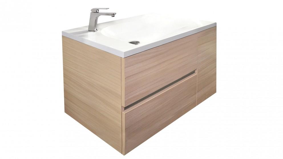 Adp billabong 900mm wall hung vanity bathroom vanities for Bathroom cabinets harvey norman