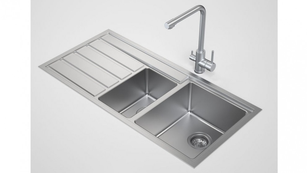 Caroma Compass 1.50 Right Hand Bowl Sink with 1 Tap Hole