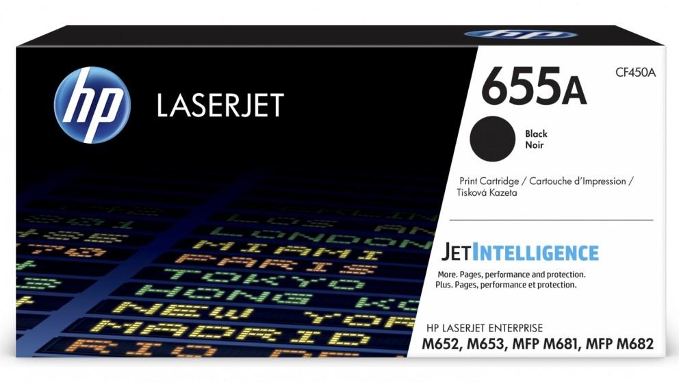 HP 655A LaserJet Toner Cartridge - Black