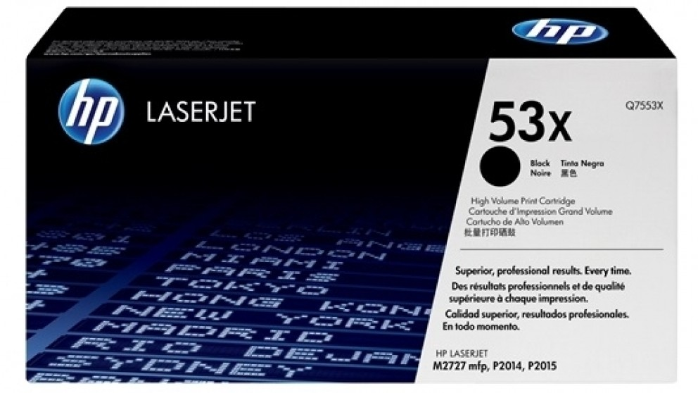 HP Q7553X Laser Jet Toner Cartridge - Black