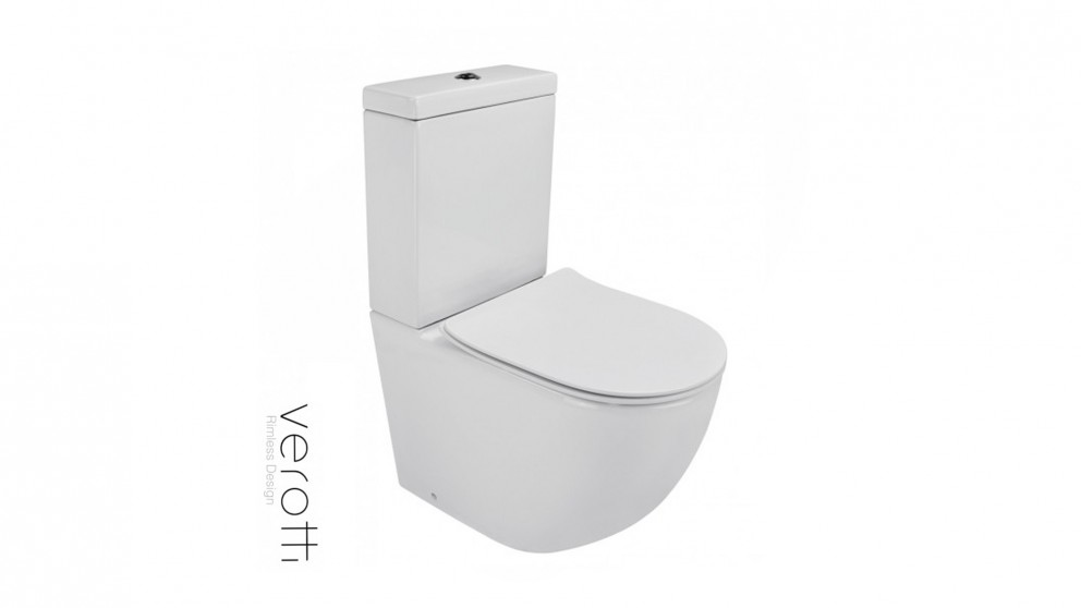Verotti Xpace Rimless Slim Seat Back to Wall Toilet Suite