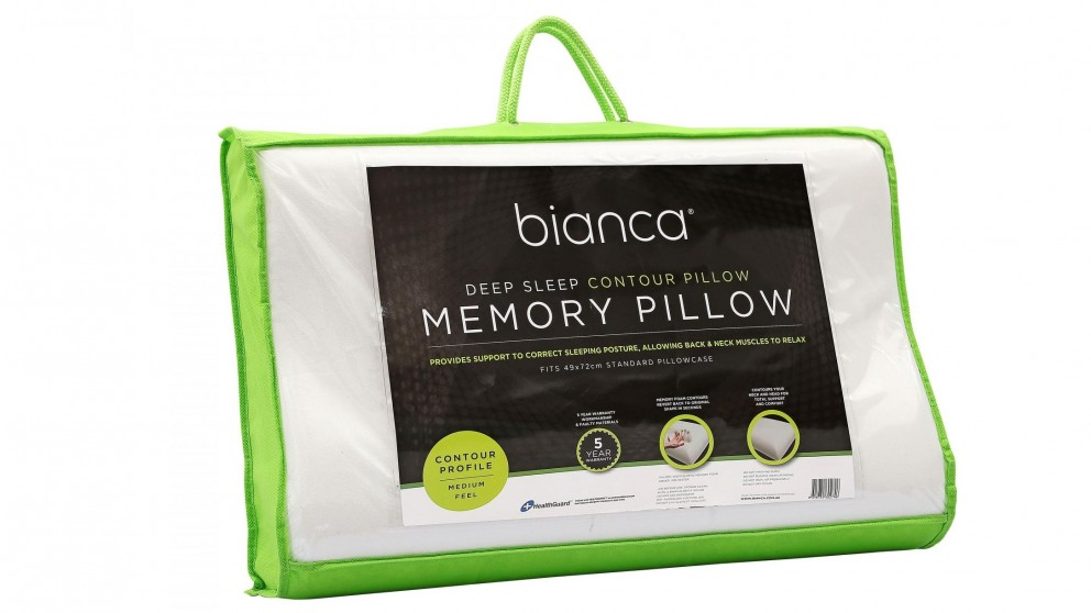 Buy Bianca Memory Foam Contour Pillow Harvey Norman Au