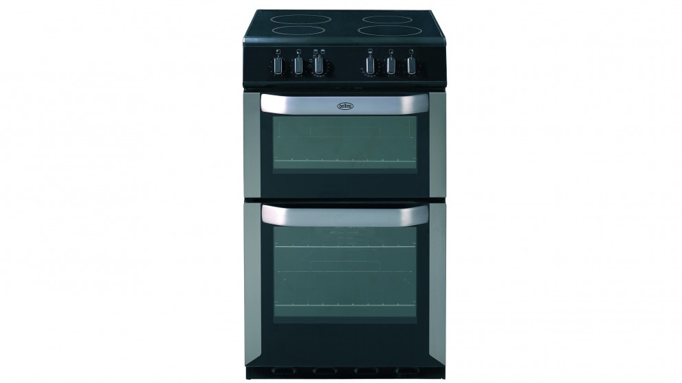 Belling 540mm Freestanding Electric Twin Cavity Cooker - Stainless Steel