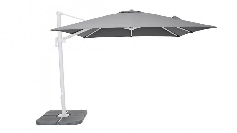 Buy Beyond 3 X 3m Rectangular Cantilever Outdoor Umbrella Grey