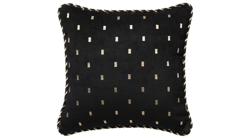 Massimo Black Square Cushion