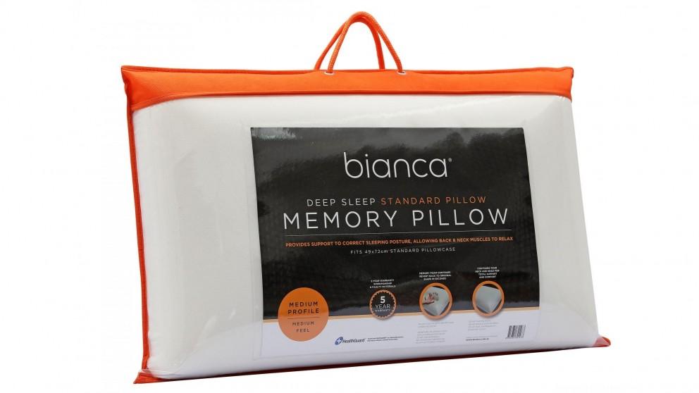 Bianca Memory Foam Standard Pillow