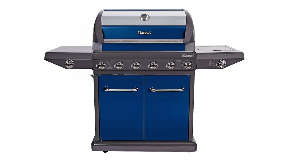 Masport Mighty 6-Burner BBQ - Navy