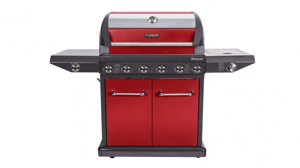 Masport Mighty 6-Burner BBQ - Red