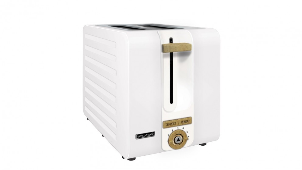 Trent and Steele Lagom Collection 2 Slice Toaster - White